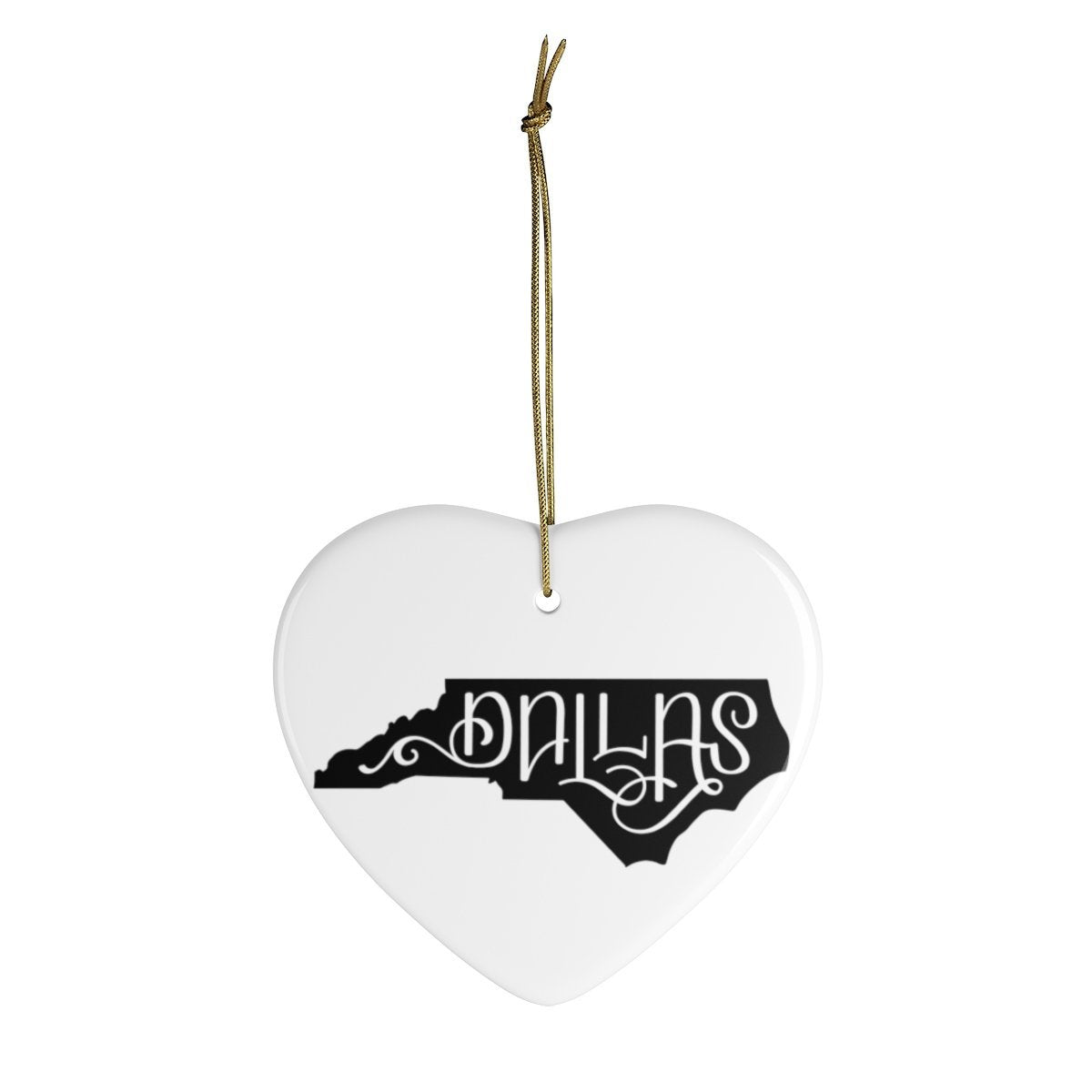 Leanne & Co. Home Decor Heart / One Size Dallas, NC Ceramic Ornament