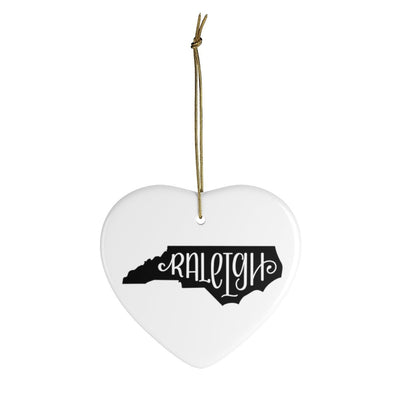 Leanne & Co. Home Decor Heart / One Size Raleigh, NC Ceramic Heart Ornament