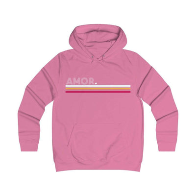 Leanne & Co. Hoodie Candyfloss Pink / XS Amor Stripe Classic Unisex Hoodie