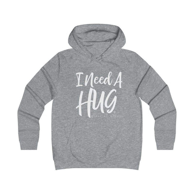 Leanne & Co. Hoodie Heather Grey / XS I Need A Hug(e Glass of Wine) Unisex Hoodie