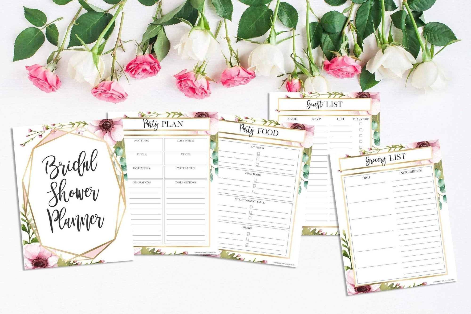 Leanne & Co. Instant Download Bridal Shower Party Planner, Instant Download