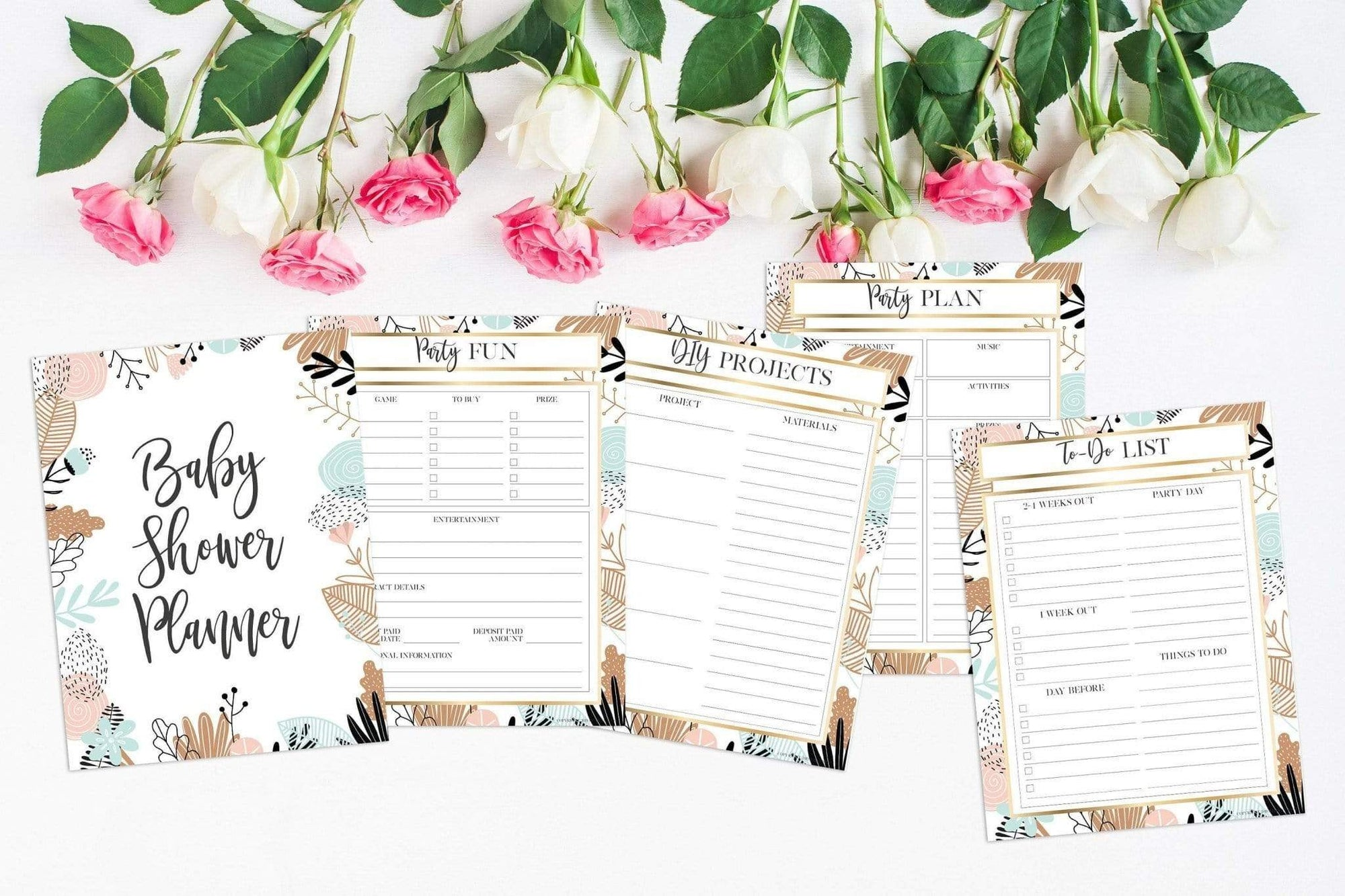 Leanne & Co. Instant Download Gender Neutral Baby Shower Party Planner Instant Download
