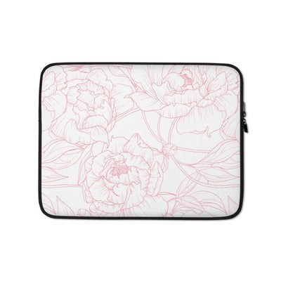 Leanne & Co. Laptop Sleeve 13 in Peony Outline Laptop Sleeve