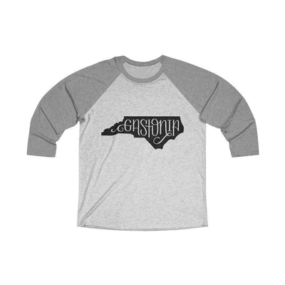 Leanne & Co. Long-sleeve XS / Premium Heather / Heather White Gastonia, NC Raglan Tee
