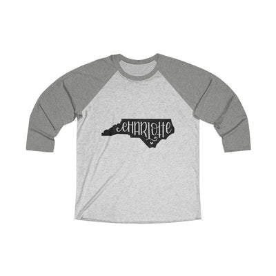 Leanne & Co. Long-sleeve XS / Venetian Grey / Heather White Charlotte, NC Tri-Blend Raglan Tee