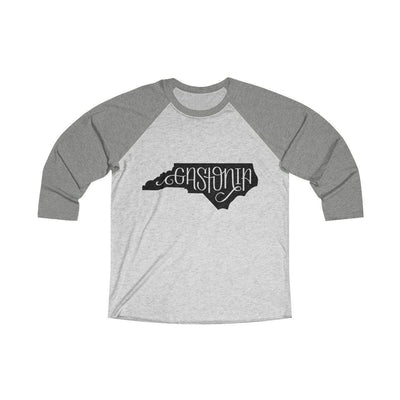 Leanne & Co. Long-sleeve XS / Venetian Grey / Heather White Gastonia, NC Raglan Tee