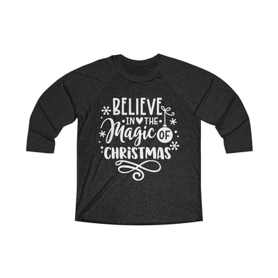 Leanne & Co. Long-sleeve XS / Vintage Black / Vintage Black Believe in the Magic of Christmas Unisex Raglan Tee