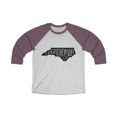 Leanne & Co. Long-sleeve XS / Vintage Purple / Heather White Gastonia, NC Raglan Tee