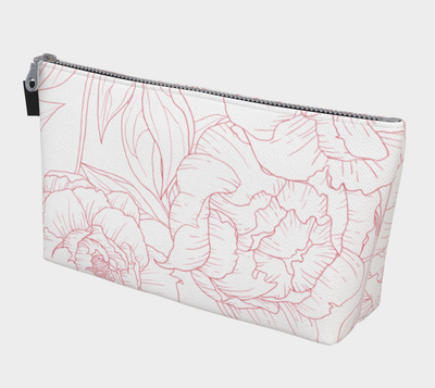 Leanne & Co. Makeup Bag Peony Outline Makeup Bag