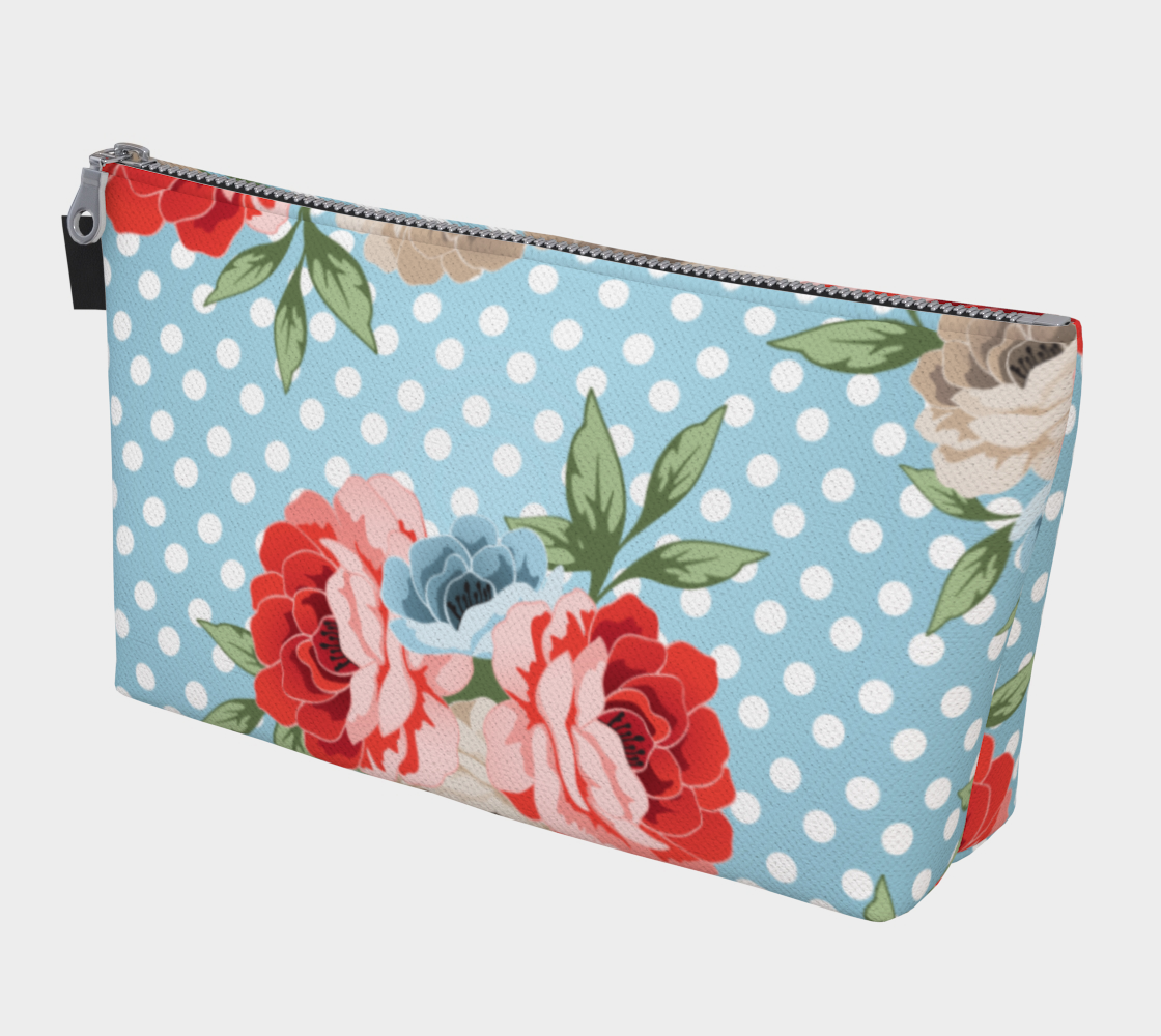 Leanne & Co. Makeup Bag Polka Dot Roses Makeup Bag