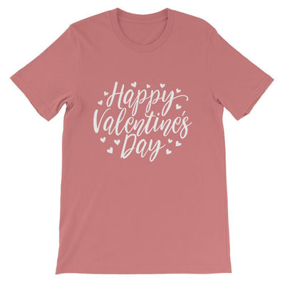 Leanne & Co. Mauve / S Happy Valentine's Day Short-Sleeve Unisex T-Shirt