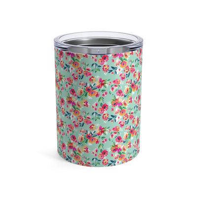 Leanne & Co. Mug 10oz Teal Flowers 10oz Tumbler