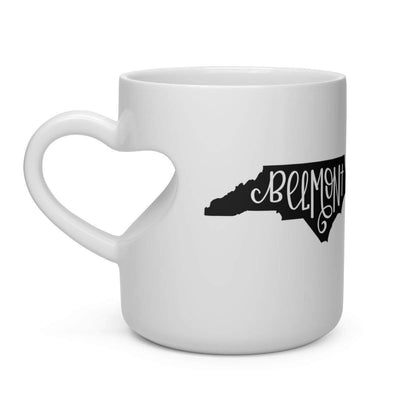 Leanne & Co. Mug 11oz Belmont, NC Heart Shape Mug