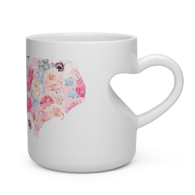 Leanne & Co. Mug 11oz North Carolina Peonies Heart Shape Mug