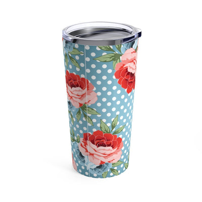 Leanne & Co. Mug 20oz Polka Dot Roses 20oz Tumbler