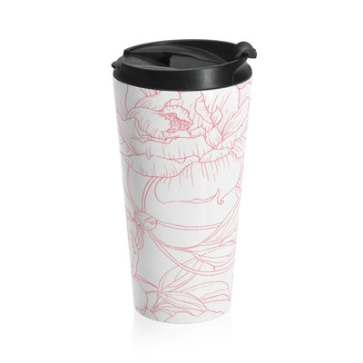Leanne & Co. Mug Travel Mug Peony Outline Stainless Steel Travel Tumbler