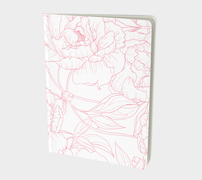 Leanne & Co. Notebook Peony Outline Large Notebook