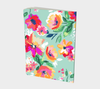 Leanne & Co. Notebook Teal Flowers Large Notebook