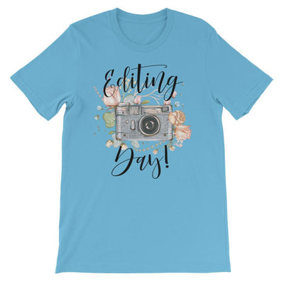 Leanne & Co. Ocean Blue / S Editing Day Short-Sleeve Unisex T-Shirt