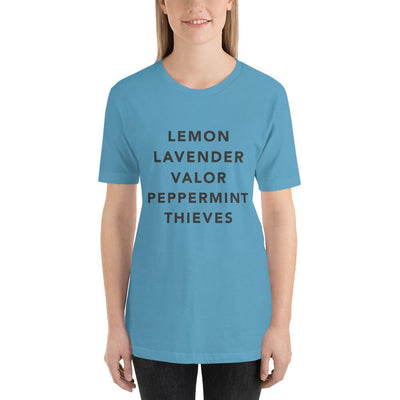 Leanne & Co. Ocean Blue / S Essential Oils Short-Sleeve Unisex T-Shirt