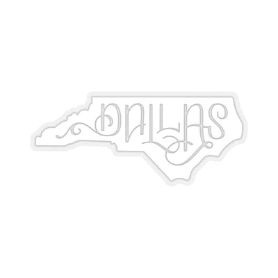 "Leanne & Co. Paper products 3x3"" / Transparent Dallas, NC White Die Cut Sticker"