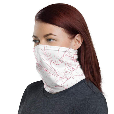 Leanne & Co. Peony Outline Protective Neck Gaiter