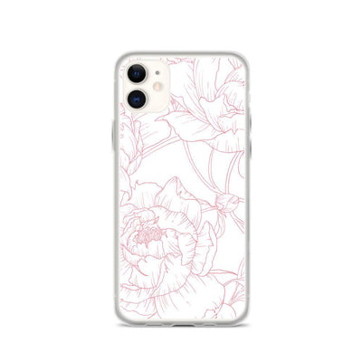 Leanne & Co. Phone Case iPhone 11 Peony Outline iPhone Case