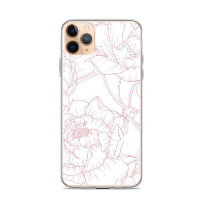 Leanne & Co. Phone Case iPhone 11 Pro Max Peony Outline iPhone Case