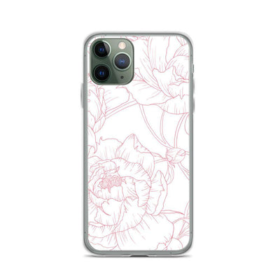 Leanne & Co. Phone Case iPhone 11 Pro Peony Outline iPhone Case