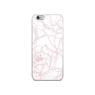 Leanne & Co. Phone Case iPhone 6/6s Peony Outline iPhone Case