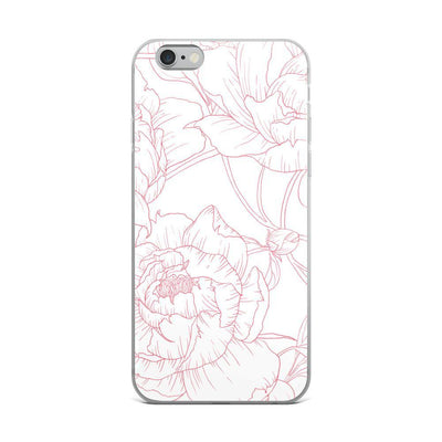 Leanne & Co. Phone Case iPhone 6 Plus/6s Plus Peony Outline iPhone Case