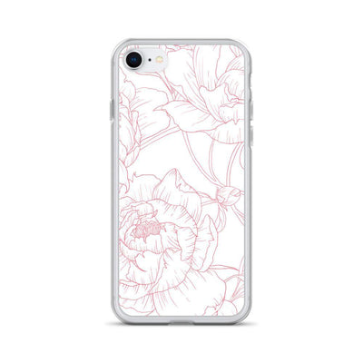 Leanne & Co. Phone Case iPhone 7/8 Peony Outline iPhone Case