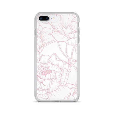 Leanne & Co. Phone Case iPhone 7 Plus/8 Plus Peony Outline iPhone Case