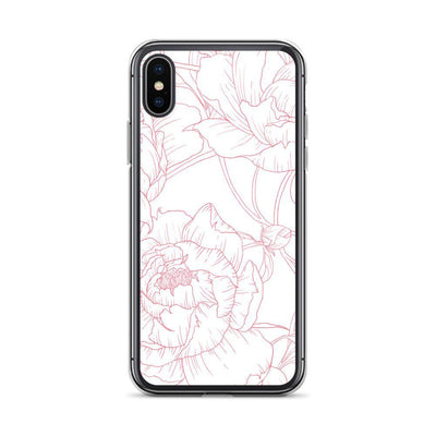 Leanne & Co. Phone Case iPhone X/XS Peony Outline iPhone Case