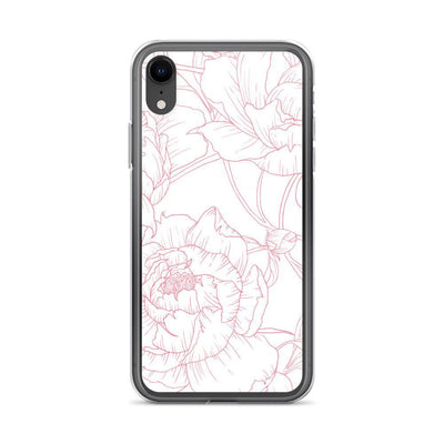 Leanne & Co. Phone Case iPhone XR Peony Outline iPhone Case