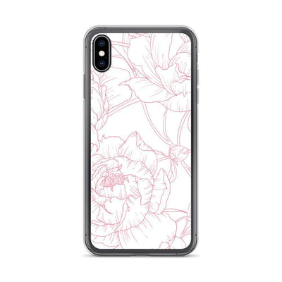 Leanne & Co. Phone Case iPhone XS Max Peony Outline iPhone Case