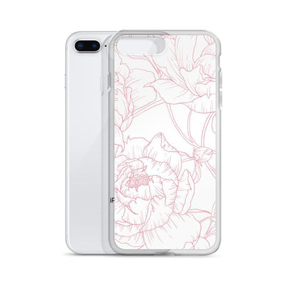 Leanne & Co. Phone Case Peony Outline iPhone Case