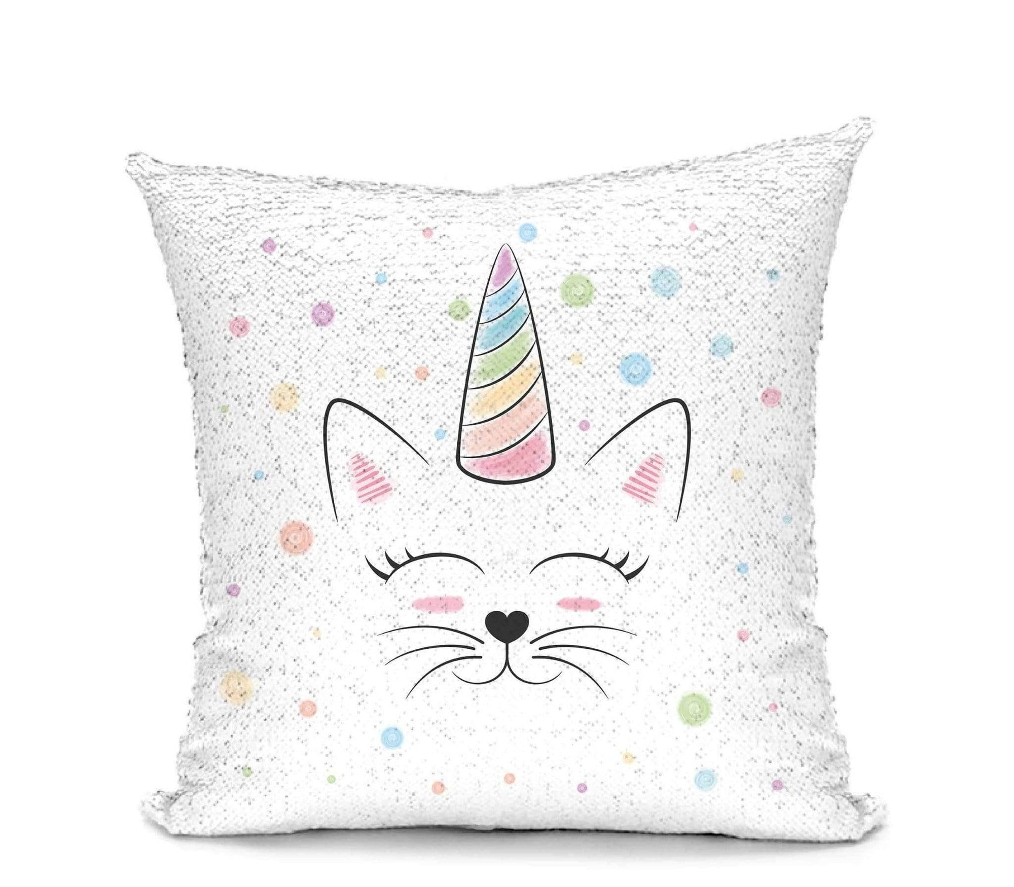 Leanne & Co. Pillow Caticorn Mermaid Sequin Pillow