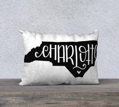 Leanne & Co. Pillow Charlotte, NC Throw Pillow