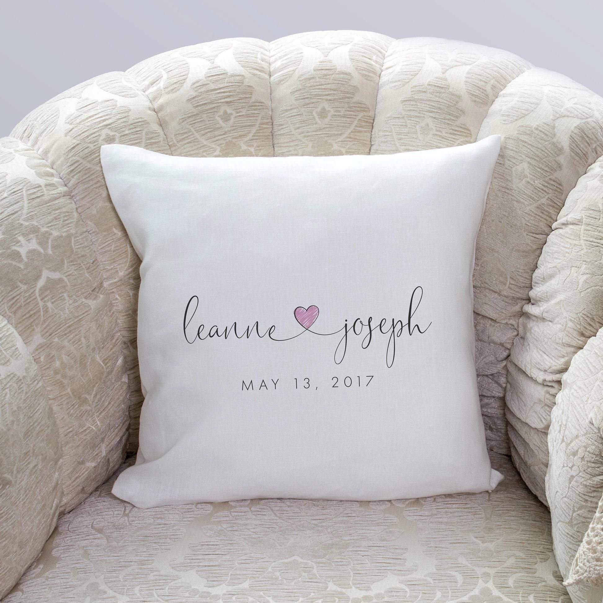 Leanne & Co. Pillow Custom Anniversary Pillow