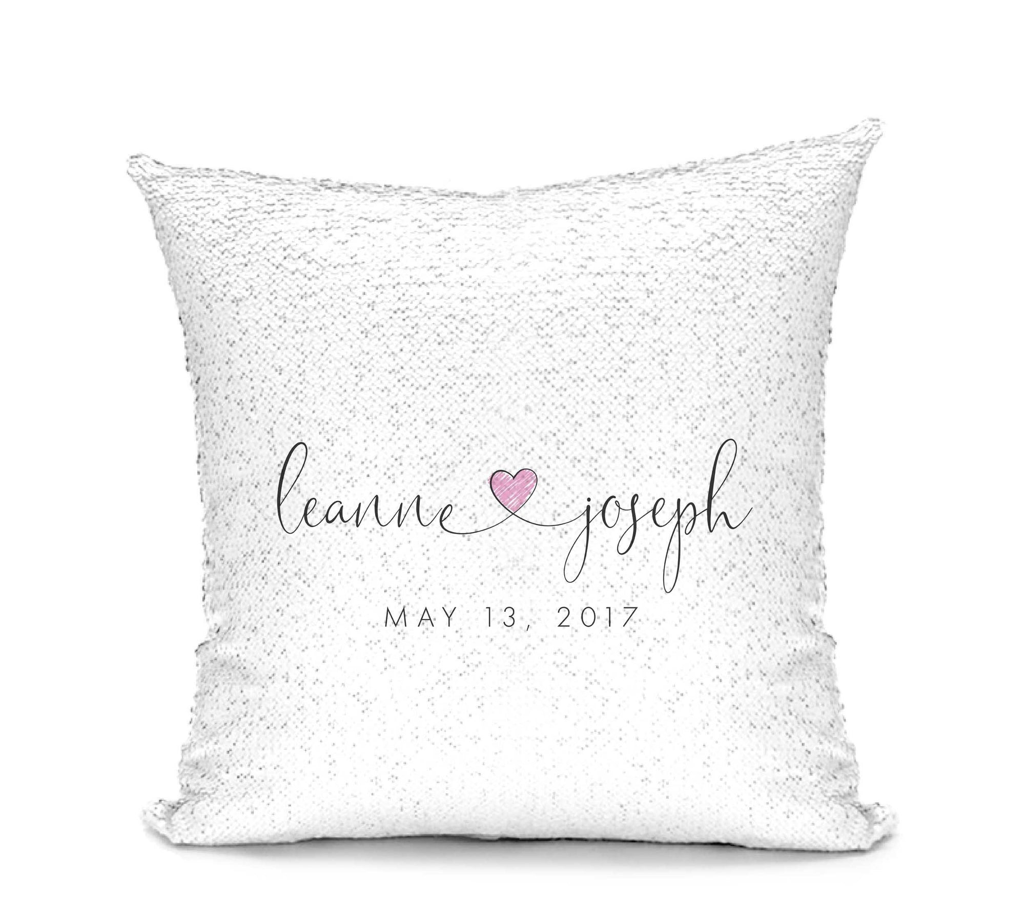 Leanne & Co. Pillow Newlywed Mermaid Sequin Pillow