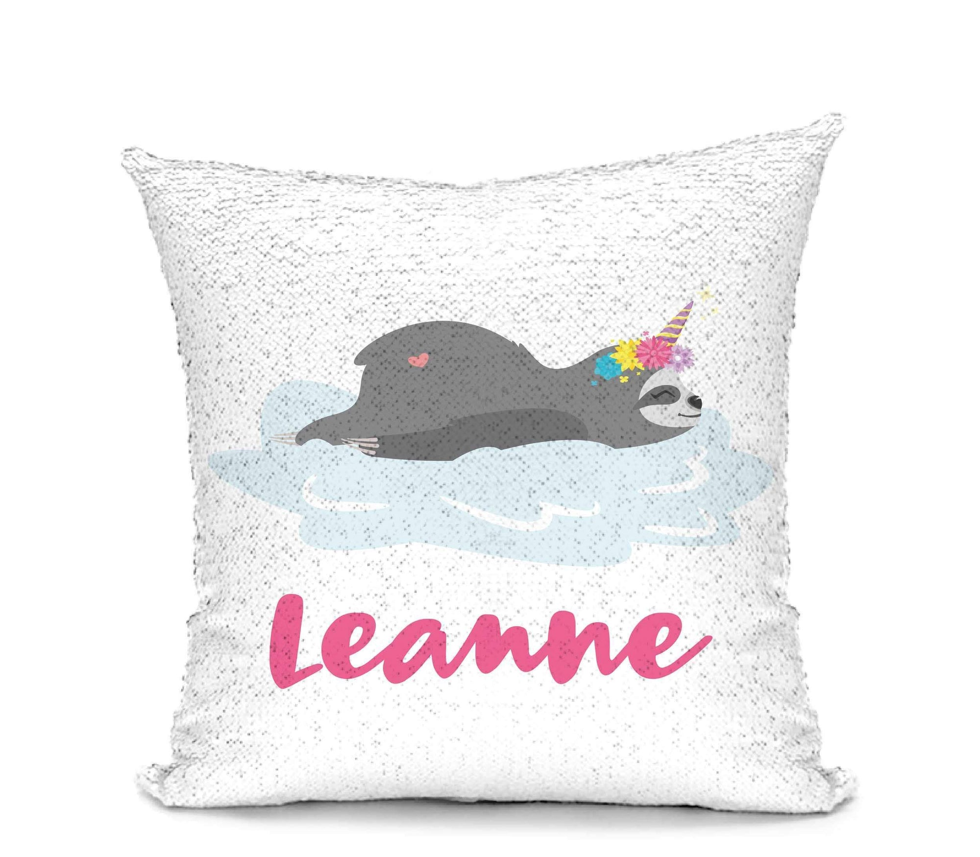 Leanne & Co. Pillow Slothicorn Mermaid Sequin Pillow
