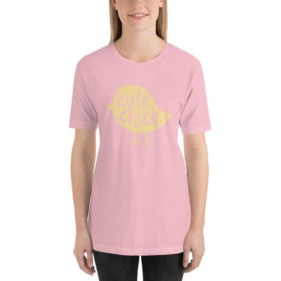 Leanne & Co. Pink / S Cute Chick Yellow Chick Short-Sleeve Unisex T-Shirt