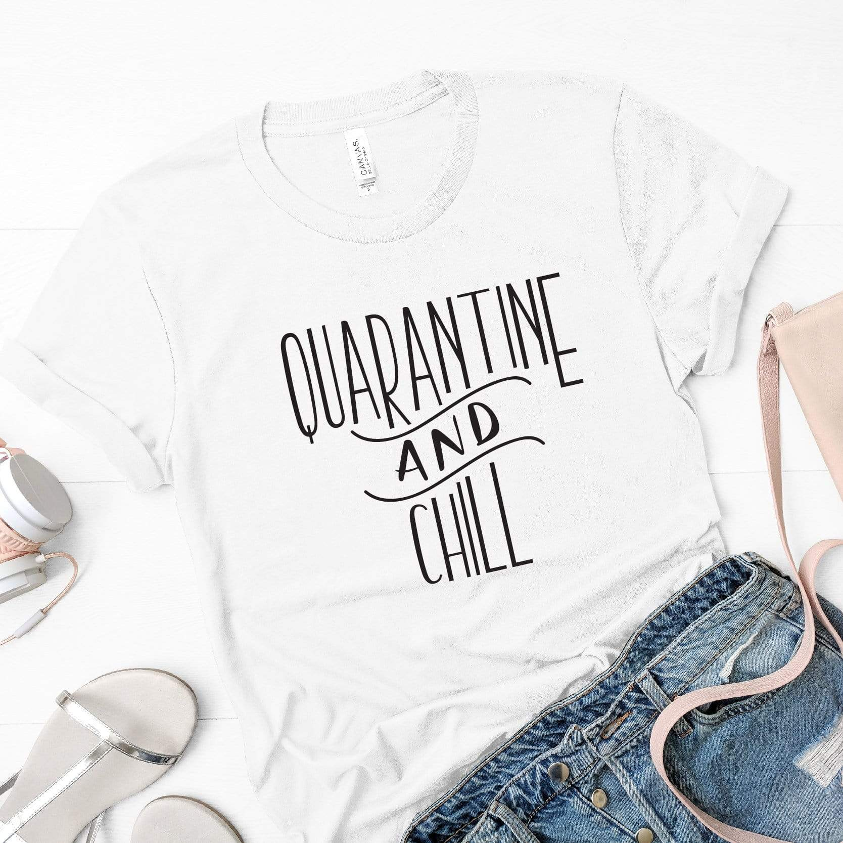 Leanne & Co. Quarantine and Chill Adult Short-Sleeve Unisex T-Shirt