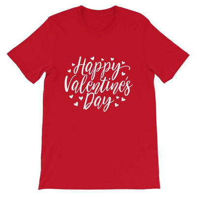 Leanne & Co. Red / S Happy Valentine's Day Short-Sleeve Unisex T-Shirt