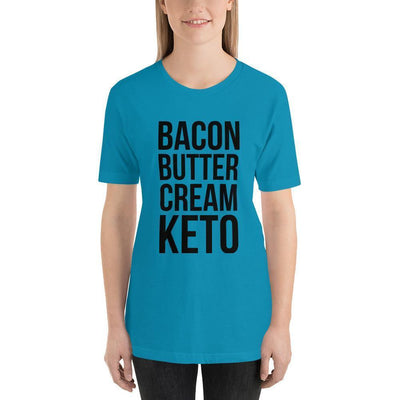 Leanne & Co. Shirt Aqua / S Bacon Butter Cream Keto Short-Sleeve Unisex T-Shirt