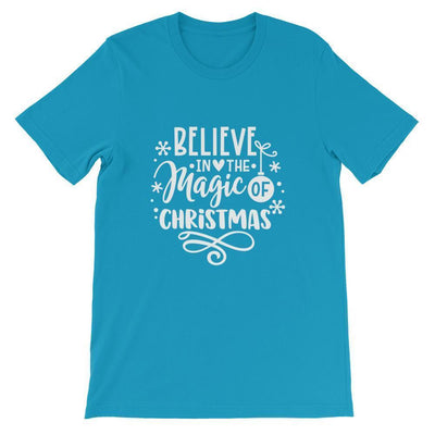 Leanne & Co. Shirt Aqua / S Believe The Magic of Christmas Short-Sleeve Unisex T-Shirt