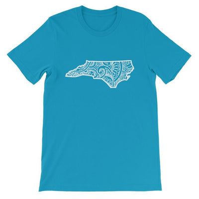 Leanne & Co. Shirt Aqua / S North Carolina Doodle Short-Sleeve Unisex T-Shirt