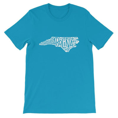 Leanne & Co. Shirt Aqua / S North Carolina Home State Short-Sleeve Unisex T-Shirt