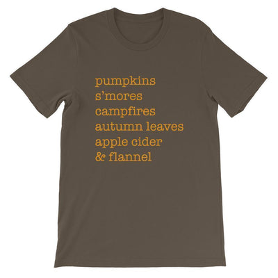 Leanne & Co. Shirt Army / S Autumn Things Short-Sleeve Unisex T-Shirt